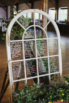 Window Pane Seating Chart | Colette Kulig Photography https://www.theknot.com/marketplace/colette-kulig-photography-rutland-vt-571928