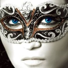 Masquerade mask - different color around the eye seems to work out better for some odd reason.