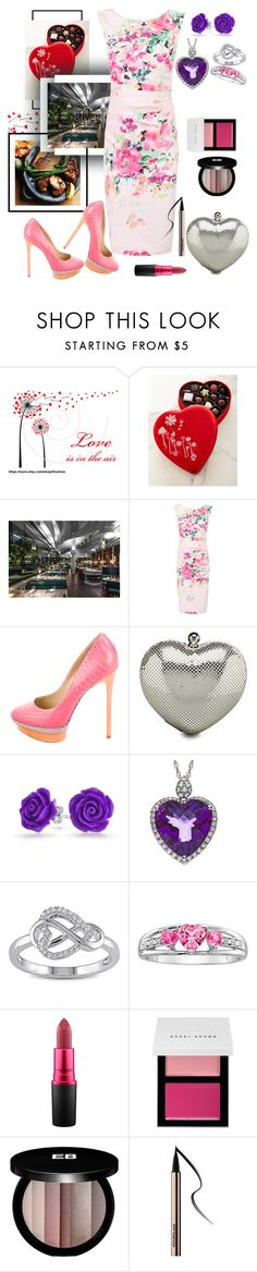 """""""Valentine's Dinner Date"""" by cal-artist ❤ liked on Polyvore featuring Godiva, Jolie Moi, B Brian Atwood, Whiting & Davis, Bling Jewelry, Miadora, MAC Cosmetics, Bobbi Brown Cosmetics and Edward Bess"""