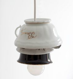 #DIY Lamp made out of cups - #101woonideeen.nl - Dutch interior and crafts magazine