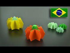 Origami: Abóbora (Jo Nakashima) - Instruções em Portguês BR - YouTube