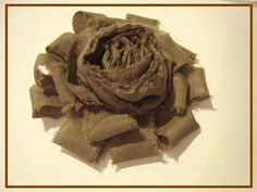 RUFFLED AND ROLLED SHABBY CHIC FLOWER tutorial - YouTube