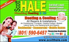 Drain Cleaning in Salt Lake City is Now Available from Scott Hale Plumbing, Heating and Air for $59 Including a Video Camera Inspection
