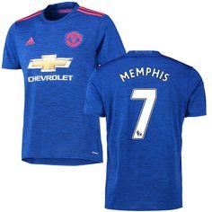 Memphis Depay Manchester United FC adidas 2016 Replica Away Jersey - Royal - $104.99