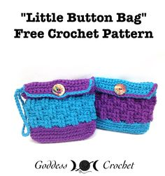 Little Button Bag, Free Crochet Pattern