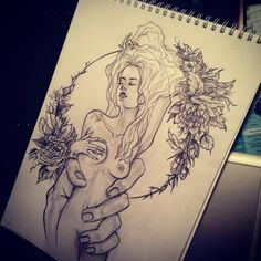 Фото тату Ольга Соснова - Дама Erotic Art, Tatoos, Depression, Cool Art, Flow, Ink, Fine Art, Ideas, Drawings