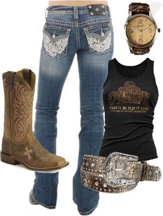 """""""Down at the Roping' Pen"""" by ceddleman ❤ liked on Polyvore"""