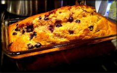 Greek yogurt blueberry banana bread