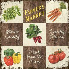Organic Painting - Farmers Market Patch by Debbie DeWitt