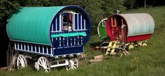 Fisherton Farm vintage vardos. Lose yourself in the Devon countryside: a trio of gorgeous wagons and an enchanted living room in the forest are all yours.