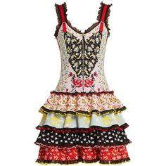 204a158c9ee8 Alexander McQueen Floral-jacquard ruffle-trimmed knit dress ( 4