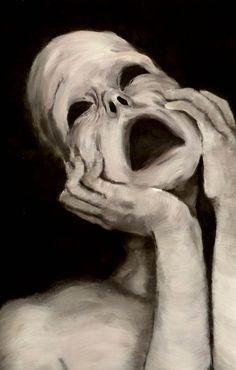 The eyes shout what the lips fear to say. Arte Horror, Horror Art, Migraine Art, Thy Art Is Murder, Dark Art Drawings, Art For Art Sake, Surreal Art, Aesthetic Art, Cute Art