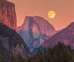 Illusion: A photograph taken in Yosemite National Park. © Jeffrey Sullivan. http://illusion.scene360.com/news-community/full-moon-rise-behind-half-dome/