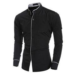 70e097b3564 New Men s Sexy Button Up Dress Shirt