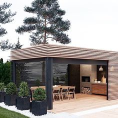 Bring on summer living with friends and fam Love this outdoor space! • Image Via Pinterest #blackandnatural #outdoorliving #outdoorkitchen #dreamhome #blackbarn #industrial #thatstudioblackstyle #riverhead #boutique #inspiration
