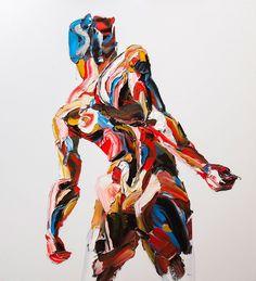 L'artiste basé à Téhéran crée de superbes peintures expressionnistes qui témoignent des lois restrictives en Iran.