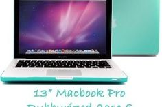 Blue Rubberized Macbook Pro Case