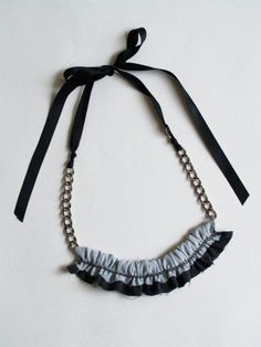 DIY quick chiffon chain necklace by Flamingo Toes