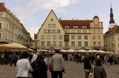 Tallin, Estonia, mostly you just walk.