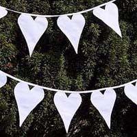 Herzen Wimpelkette als Dekoration für eine Hochzeit