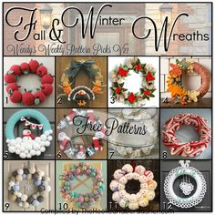 This week's edition of Wendy's Weekly Pattern Picks is all about free crochet patterns and tutorials for Fall and Winter wreaths!