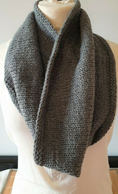 Hand-knitted cowl for men in a mix of soft and warm pure wool and alpaca Snood Scarf, Hand Knit Scarf, Neck Scarves, Neck Warmer, Keep Warm, Hand Knitting, Cowl, Pure Products, Outfits