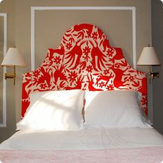 Upholstered headboard shape