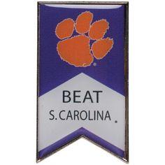 Clemson Tigers Beat South Carolina Rivalry Banner Pin - $6.99