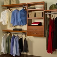 John Louis Home Premier Closet System In Maple Or Mahogany   It May Seem  Like Youu0027re Low On Closet Space, But Chances Are, Your Space Simply Isnu0027t U2026