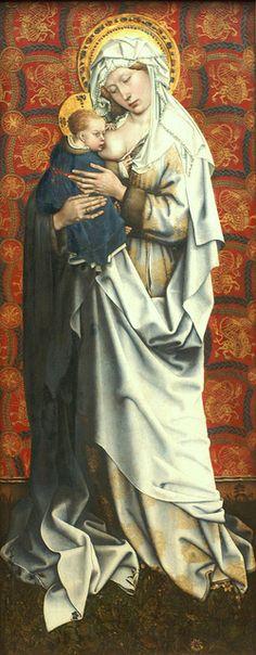 Robert Campin, Meister von Flémalle (Valenciennes 1378/79 - Tournai 1444/45) | Stillende Gottesmutter / Nursing Virgin Mary, 1430 | Flickr - Photo Sharing!