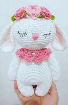 i love your picture of mia the bunny hasemia amaloudesigns pattern anleitung amigurumi crochet kawaii etsyshop etsystore etsyseller craftastherapy crochetgirlgang Amigurumi Do Zero This Pin was discovered by Atö crochet lamb too cute How to Crochet a Bea Crochet Animal Amigurumi, Crochet Amigurumi Free Patterns, Crochet Animal Patterns, Amigurumi Doll, Crochet Dolls, Crochet Rabbit Free Pattern, Disney Crochet Patterns, Crochet Beanie, Easter Crochet