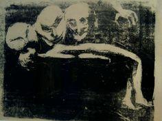 Edvard Munch - Lust (1888) Edvard Munch, Devine Comedy, Alfred Kubin, Dark Artwork, Expressionist Artists, Yellow Art, Horror Art, Gravure, Inktober