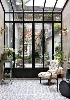 Hotel Henriette Rive Gauche. Located on a narrow cobblestone street, a short stroll from the city's Latin Quarter, Paris' hip Hotel Henriette Rive Gauche is a cross between a Berlin loft and a Copenhagen concept store #interiordesign #plants #greenery