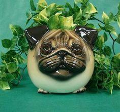 Pug Planter. I want one!
