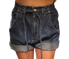 90s high waisted polka dotted runner shorts