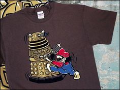 Dr Who Dalek Nintendo Mario Tee Parody T-shirt S-3XL #Gildan #BasicTee