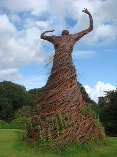"""Willow Lady"" by Trevor Leat In the garden of the National Museum of Costume, near Dumfries."