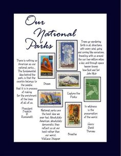Have you been inspired by Ken Burns and Dayton Duncan with their PBS Series, THE NATIONAL PARKS - America's Best Idea? Well, we have...sometimes beyond words! This is one of our newest artworks inspired by this wonderful series which CELEBRATE OUR NATIONAL PARKS with newer stamp issues and great quotations from those who founded them and continue to inspire a nation.     http://www.etsy.com/shop/PushinTheEnvelope
