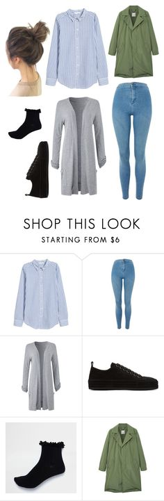 """Untitled #44"" by xellalikesukulelesx on Polyvore featuring H&M, Topshop, Ann Demeulemeester, River Island and MANGO"