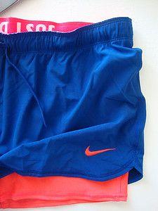 Nike Women's Phantom Track Shorts 2 in 1 Running Tennis Drenched Blue 404898 416 | eBay