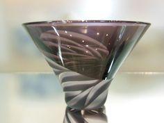 ぐい呑み - 天開杯 紫 - ガラス~サンドブラスト~貴方だけの一品を - ガラス工房 そよ風