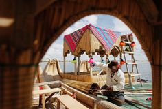 Stunning images of floating islands of Los Uros