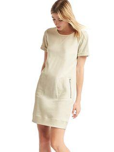 Gap roll sleeve sweatshirt dress