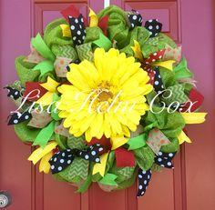 Gerber daisy wreath