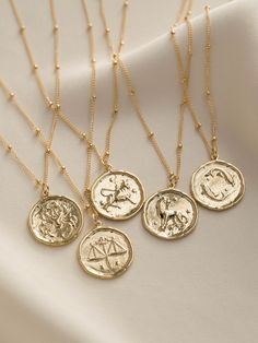 Our zodiac coin necklace is the perfect personalized gift for anyone - whether you're a Scorpio Gemini or Taurus! Choose your own or someone special's zodiac sign! Find dainty necklaces hoop earrings dainty gold stacking rings and more at Simple & Dainty! Gold Coin Necklace, Leaf Necklace, Diamond Pendant Necklace, Dainty Necklace, Silver Necklaces, Jewelry Necklaces, Gold Bracelets, Diamond Earrings, Leather Earrings