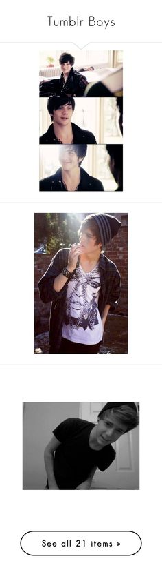 """""""Tumblr Boys"""" by sammy-styles-simpson ❤ liked on Polyvore featuring boys, guys, aaron johnson, pictures, hot guys, people, characters, photos, - pictures and images"""