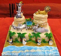 """""""Madagascar"""" Cake Entry at the ICCA Novelty Cake Competition 2011 Bolo Madagascar, Madagascar Party, Cake Competition, Safari Cakes, Disney Cakes, Just Cakes, Novelty Cakes, Occasion Cakes, Food Crafts"""