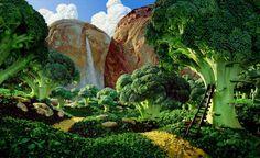"Food Art Photography by Carl Warner ""Brocoli Forrest"""