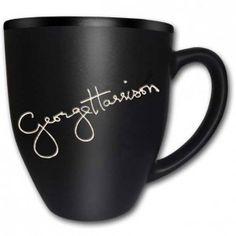 Beatles George Harrison Signature Coffee Mug