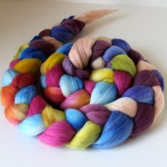 Merino Wool Roving  Hand Painted  Hand Dyed for by SpunRightRound, $17.50